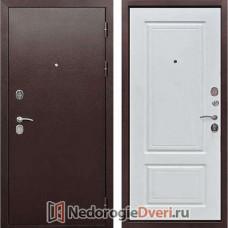 Металлические двери Бастион 100 ТК (Двери Бастион) Медный антик Белый ясень