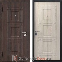 Входные двери Бастион Эко W (Входные двери в квартиру) Лиственница Мокко входные двери