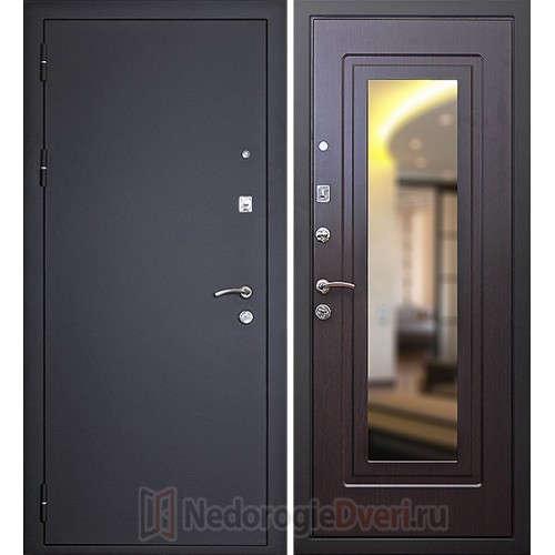 Входна металлическая дверь Art-Lock-1 Венге с зеркалом