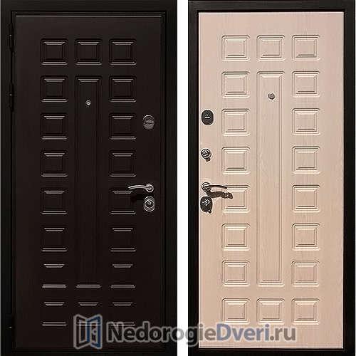 Входная металлическая дверь Art-Lock 4G  CISA Беленый дуб ТРИ КОНТУРА УПЛОТНЕНИЯ