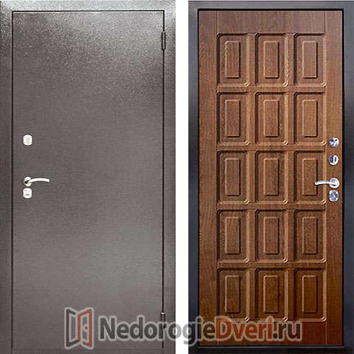 Входная металлическая дверь Аргус 2M Шоколад Дуб Золотой