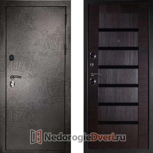 Входная дверь Дива МД 05 серебро/орех