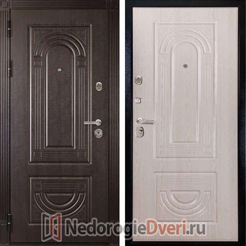 Входная дверь ДИВА МД 32 Беленый дуб