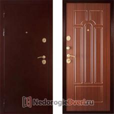 Входная дверь Дива МД 04 Медь Орех Тиснёный