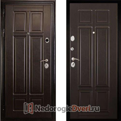 Входная металлическая дверь Дива МД 07 Венге ТРИ КОНТУРА УПЛОТНЕНИЯ