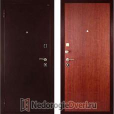 Входная дверь ДИВА  МД 01 Медь Итальянский орех