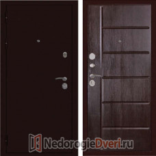 """Входная металлическая дверь """"ДИВА"""" С 503 Тиснёный венге Трёхконтурная"""