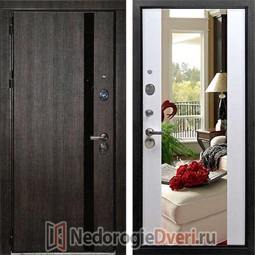 Входная металлическая дверь Премьер Эш Вайт Зеркало