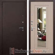 Входная металлическая дверь Стоп Царское Зеркало Беленый дуб