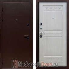 Входная металлическая дверь Геркон Троя Бел дуб ТРИ КОНТУРА