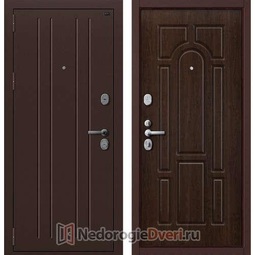 Входная металлическая дверь Groff P2 203 Тиковое Дерево