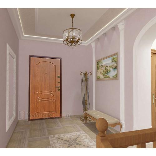 Входная дверь Art Lock 2 Берёза Морёная в интерьере (фото)