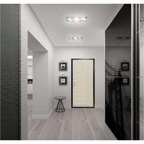 Входная дверь Art Lock 4g Белёный дуб в интерьере (фото)