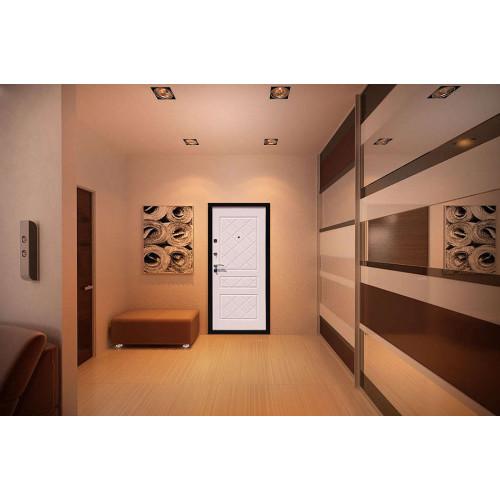 Входная дверь Стоп Эко Белёный Дуб в интерьере (фото)