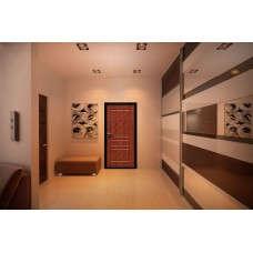 Входная дверь Стоп Эко Итальянский орех в интерьере (фото)