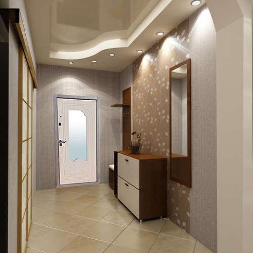 Входная дверь Геркон Ampir  Белёный Дуб в интерьере (фото)