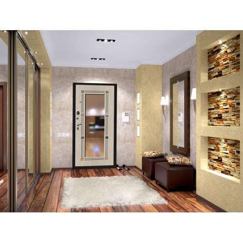 Входная дверь Промет Флип Зеркало в интерьере (фото)
