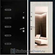 Входная дверь Кондор 110 Зеркало Беленый дуб
