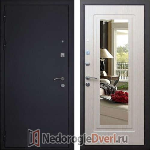 Входная дверь Кондор Престиж Белёный дуб с Зеркалом