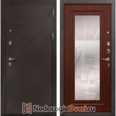 Входная металлическая дверь Лекс 5А Цезарь 30 зеркало Береза мореная