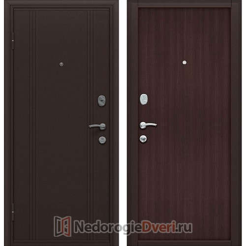 Входная металлическая дверь Оптим Door Out 201 Wenge Veralinga