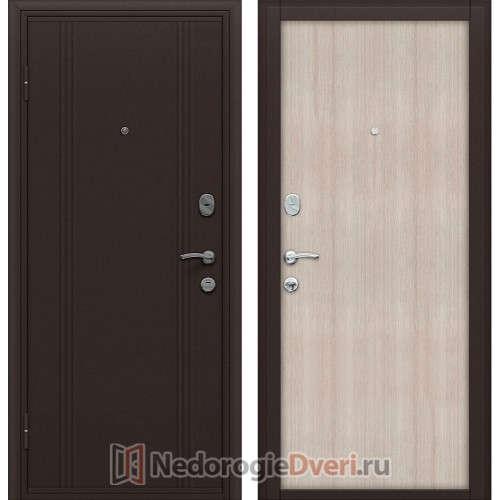 Входная металлическая дверь Оптим Door Out 201 Cappucino Veralinga