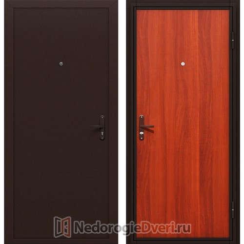 Входная металлическая дверь Оптим Инсайд Эко Итальянский Орех (Внутр. открывания)