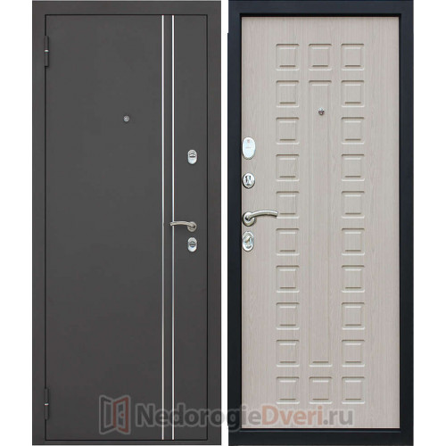 Входная металлическая дверь Престиж Термо Белёный Дуб