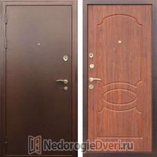 Входная металлическая  дверь Престиж Грация Орех Темный