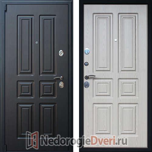 Входная дверь Престиж Атлант Белёный дуб