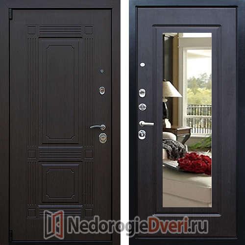 Входная дверь Престиж Викинг Венге с Зеркалом