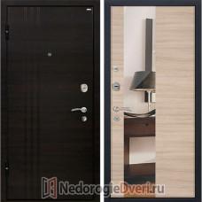 Входная металлическая дверь МеталЮр М-15 Капучино Кроскут Зеркало