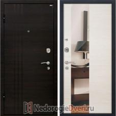 Входная металлическая дверь МеталЮр М-15 Эшвайт Кроскут Зеркало