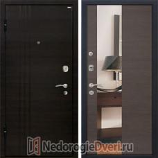 Входная металлическая дверь МеталЮр М-15 Грей Кроскут Зеркало