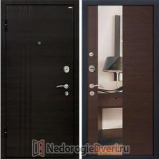 Входная металлическая дверь МеталЮр М-15 Венге Кроскут Зеркало