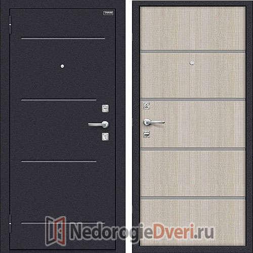 Дверь входная металлическая Оптим Лайн Cappuccino Crosscut