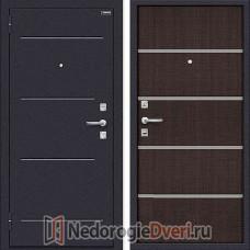 Дверь входная металлическая Оптим Лайн Wenge Crosscut