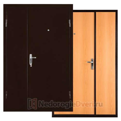 Входная двухстворчатая металлическая дверь Промет С1 Дуэт