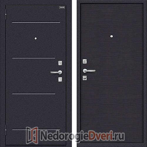 Дверь входная металлическая Оптим Кобра Black Wave