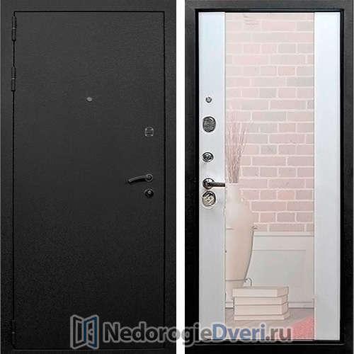 Входная дверь Rex 1А Белый Ясень с Зеркалом