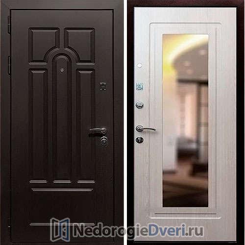 Входная дверь Rex Эврика Белёный дуб Зеркало