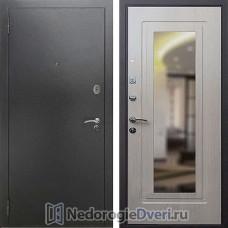 Входная дверь Rex 2А с зеркалом Беленый Дуб