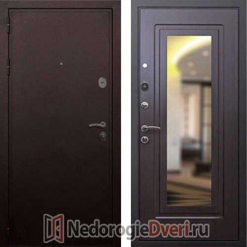 Входная дверь Rex 5A Медь с Зеркалом Венге