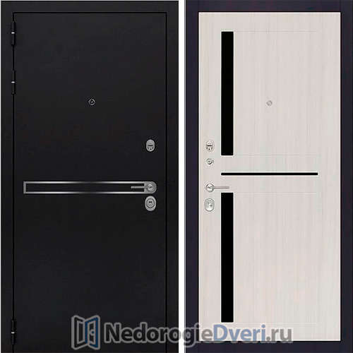 Входная дверь Rex Лайн Белый Сандал