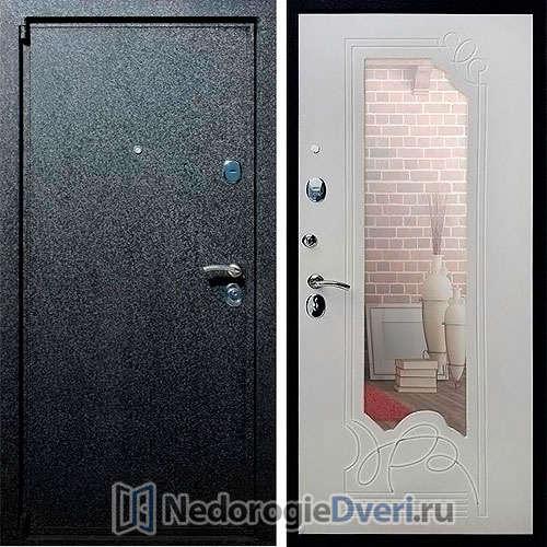 Входная дверь Rex 3 Ясень Белый с Зеркалом