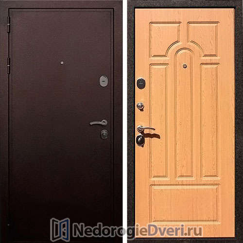 Входная дверь Rex 5A Медь Дуб