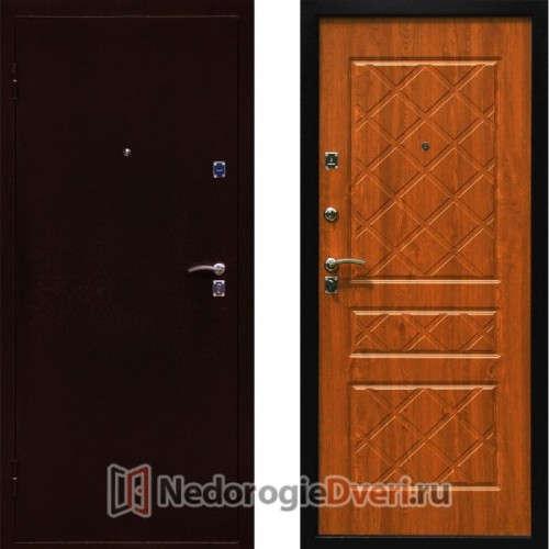 Входная металлическая дверь Стоп Эко Дуб Золотистый