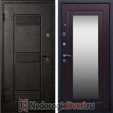 Входная металлическая дверь Стоп Зеркало Венге