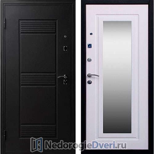 Входная дверь Стоп Зеркало Ясень белый