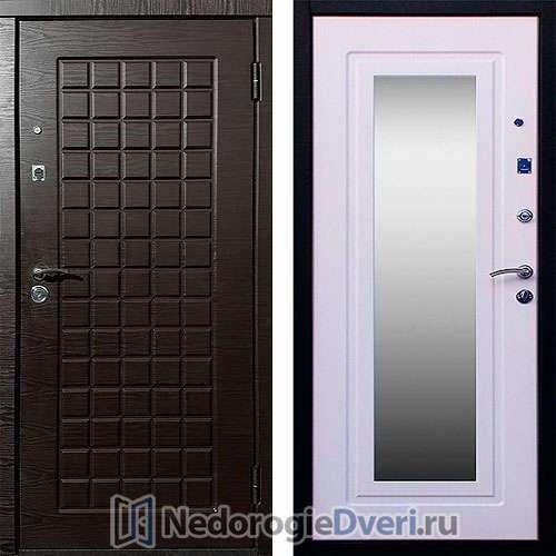 Входная дверь Стоп Зеркало Венге Ясень Белый